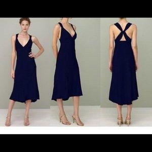 J Crew Avery Criss Cross Back Silk Dress P6  NWT